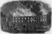 Muskets Framed Prints - The Burning Of The U.s. Arsenal Framed Print by Photo Researchers