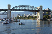False Creek Prints - The Burrard bridge and False creek Canada. Print by Gino Rigucci