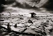 Frightening Metal Prints - The Burren Metal Print by Simon Marsden