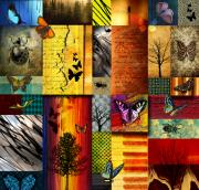 Abstract.trees Digital Art Prints - The Butterfly effect Print by Ramneek Narang