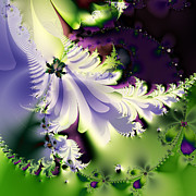 Benoit Mandelbrot Prints - The Butterfly Effect . Version 2 . Square Print by Wingsdomain Art and Photography