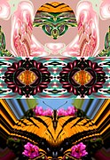 Third Eye Digital Art - The Butterfly Skull by Rick Wolfryd