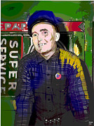 The Perfect Picture Inc Mixed Media - The Cab Driver by Charles Shoup