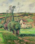 Farm Fields Paintings - The Cabbage Slopes by Camille Pissarro