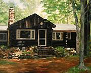 Log Cabin Prints - The Cabin in May Print by Anna Bain