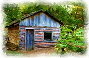 Log Cabin Art Prints - The Cabin Print by Jim  Darnall