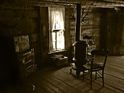 Vintage Photographs Framed Prints - The Cabin Room Framed Print by Ken Smith