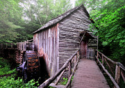 Rustic Scenes Photos - The Cable Grist Mill by Thomas Schoeller
