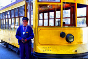Old Street Metal Prints - The Cablecar Motorman . 7D12868 Metal Print by Wingsdomain Art and Photography