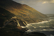Ocean Scenes Prints - The Cabot Trail Winds Its Way Print by Raymond Gehman