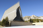 Colorado Springs Posters - The Cadet Chapel At The U.s. Air Force Poster by Stocktrek Images