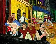 Dancing Couples Paintings - The Cafe by Gail Finn