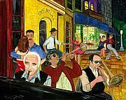 The Cafe Print by Gail Finn