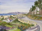 Santa Monica Paintings - The California Incline by Bonnie Sue Schwartz