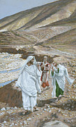 Gospel Framed Prints - The Calling of St. Andrew and St. John Framed Print by Tissot