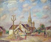 Roadside Metal Prints - The Calvary at Pont Aven Metal Print by Pierre Auguste Renoir