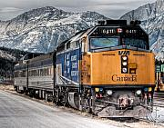 R J Ruppenthal Art - The Canadian - VIA 6411 by R J Ruppenthal