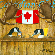 Geese Paintings - The Canadian Club... by Will Bullas