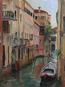 Canal Painting Originals - The Canal Less Travelled by Anna Bain