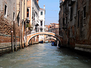 Italian Digital Art - The Canals in Venice by Bill Cannon