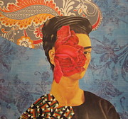 Distortion Mixed Media Prints - The Cancerous Rose Print by Kanchan Mahon