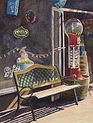 Candy Painting Originals - The Candy Shop by Karen Fleschler