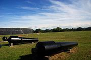 Sullivan Posters - The Cannons at Fort Moultrie in Charleston Poster by Susanne Van Hulst