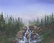 Canoe Waterfall Painting Framed Prints - The Canoeist Concern Framed Print by Kent Nicklin