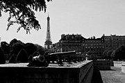 Canons Originals - The canons of the Invalides and Eiffel tower  Paris by Pat Garret