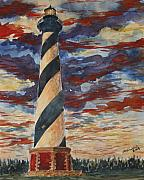 Seacape Originals - The Cape Hatteras Lighthouse NC by Jon Schaubhut