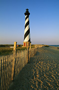 Fences Prints - The Cape Hatteras Lighthouse Print by Steve Winter