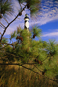 Nautical Structures Photos - The Cape Lookout Light, Prototype by Raymond Gehman