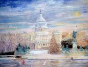 Washington D.c. Mixed Media - The Capitol Building by Kamil Kubik