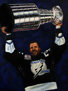 Stanley Cup Paintings - The Captain by Marlon Huynh
