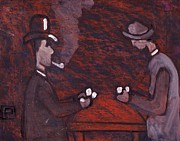Card Players Prints - The card players Print by Peter  McPartlin