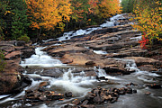 Automne Framed Prints - The Cascades Mauricie National Park Framed Print by Pierre Leclerc