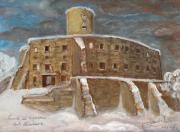 Polish Painters Paintings - The Castle by Anna Folkartanna Maciejewska-Dyba
