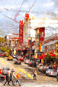 Big Cities Digital Art Prints - The Castro in San Francisco . 7D7572 Print by Wingsdomain Art and Photography