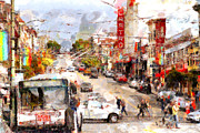Big Cities Digital Art Prints - The Castro in San Francisco . 7D7573 Print by Wingsdomain Art and Photography