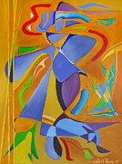 Abstract Cat Prints - The Cat and Dancer Print by Robert Lacy