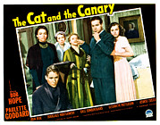 Atcmposterart Posters - The Cat And The Canary, Front To Back Poster by Everett