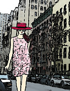 Nyc Mixed Media - The Cat Walk in NYC by Mira Dimitrijevic