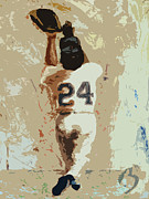 Mlb Paintings - The Catch by Adam Barone