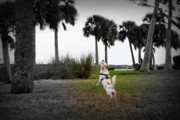 Dog Park Prints - The Catch Print by Mandy Shupp