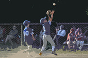 Sports Art - The Catch by Peter  McIntosh