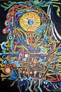 Dream Catcher Paintings - The Catcher of Dreams by Timothy  Foley