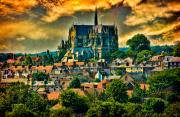 Rooftop Digital Art Prints - The Cathedral at Arundel Print by Chris Lord
