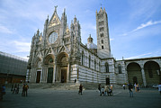 Religions Prints - The Cathedral In Siena Is A Mixture Print by Taylor S. Kennedy