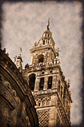 Seville Posters - The Cathedral Through Time Poster by Mary Machare