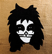 Kiss Mixed Media Metal Prints - The Catman Metal Print by Jera Sky